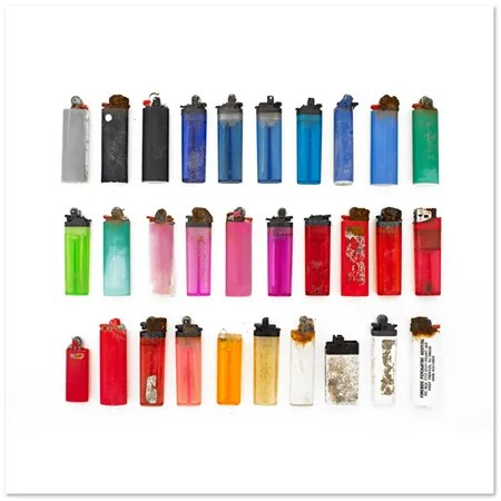 Disposable Lighters by Barry Rosenthal