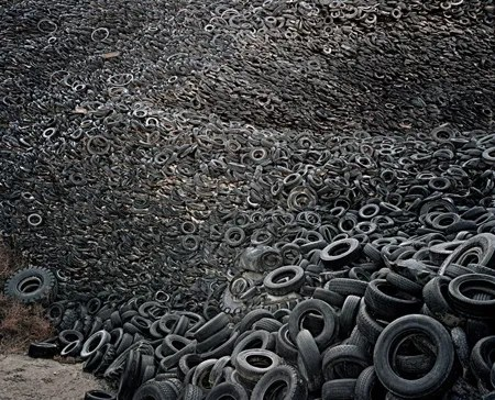 Oxford  Tire Pile 9b by Edward Burtynsky