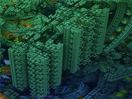 Mandelbulb's Green City by Marcos Napier