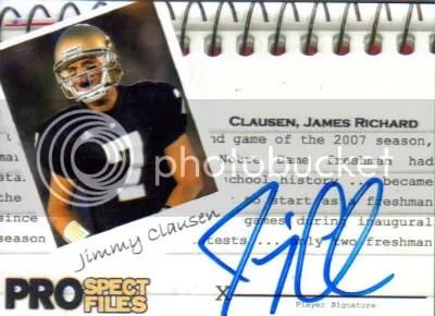 Jimmy Clausen Autograph