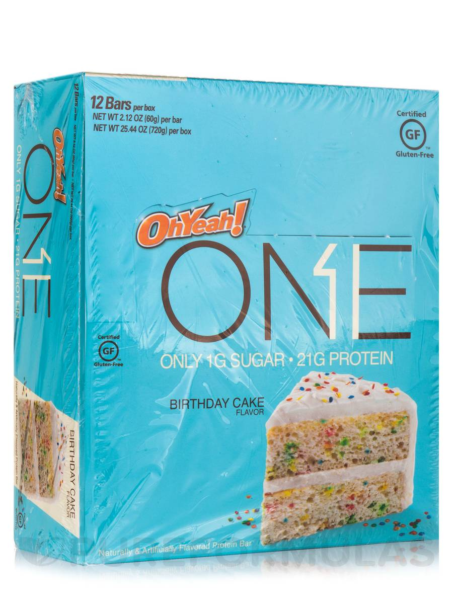 One Protein Bar Birthday Cake Box Of 12 Bars 2 12 Oz 60 Grams Each