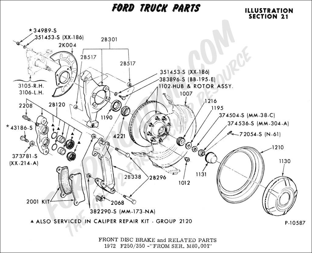 F250 Front Hub Assembly Schematics