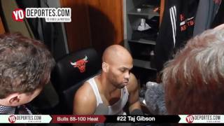 Taj Gibson Chicago Bulls 88-100 Miami Heat