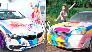 I TURNED MY CAR INTO JOJO SIWA'S CAR!! EXTREME CAR MAKEOVER!!