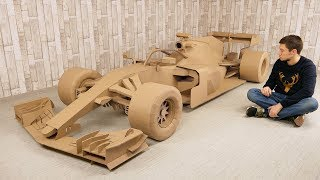 How to Make FORMULA 1 Car from Cardboard for 500 hours