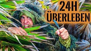 Auf einsamer INSEL 24H ÜBERLEBEN Teil 2   ÜBERNACHTUNG   JAGEN   FISCHEN   Survival Mattin