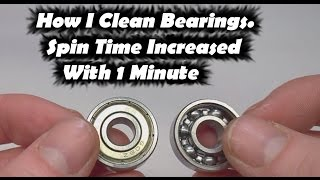 Fidget Toy Spinner Increase Spin Time | How to Clean Bearings for Fidget Toy Hand Spinners