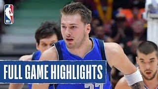 MAVERICKS at CLIPPERS | Porzingis AND Doncic Record Double-Doubles | 2019 NBA Preseason