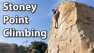 Climbing at Stoney Point - The OG Outdoor Boulders Developed in the Mid 20th Century!
