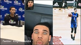 Kyle Kuzma On LaMelo Ball Joining LAKERS w/ Lonzo ″I Wouldn't Touch The Ball″; Lonzo & Melo REACT