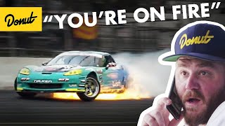 Formula Drift Corvette catches on Fire + Odi gets Top8 | Frenemies Irwindale