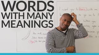 Learn English: Words with many meanings
