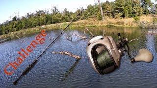 Giant Reel + Mini Rod Challenge!! (BAD ENDING)