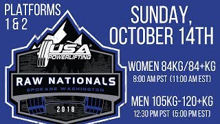 Sunday (Platforms 1&2) - 2018 USA Powerlifting Raw Nationals