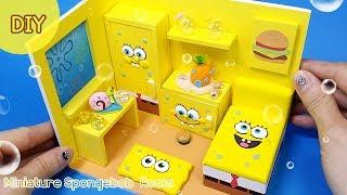 DIY miniature dollhouse - Spongebob Room !!