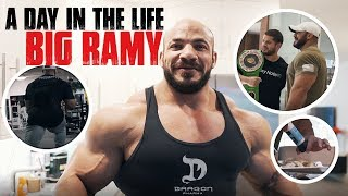 A DAY IN THE LIFE OF BIG RAMY | Eating | Shopping | Training