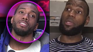 Kawhi Leonard Tells Lebron ″STOP TEXTING ME... IM NOT COMING TO THE LAKERS″ & Lebron GOES IN