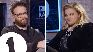 Seth Rogen & Chloë Grace Moretz Insult Each Other | CONTAINS STRONG LANGUAGE!