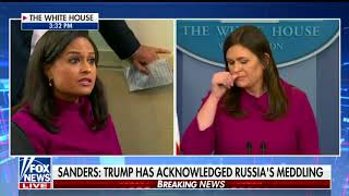 Sanders says Trump acknowledges Russian interference