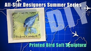 Printed Bird Soft Sculpture