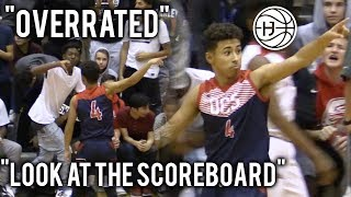Julian Newman SHUTS UP ″OVERRATED″ CHANTS WITH 9 THREES! SHUSHES THE CROWD! POINTS AT SCOREBOARD