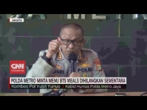 Polda Metro Minta Menu BTS Meals Dihilangkan Sementara