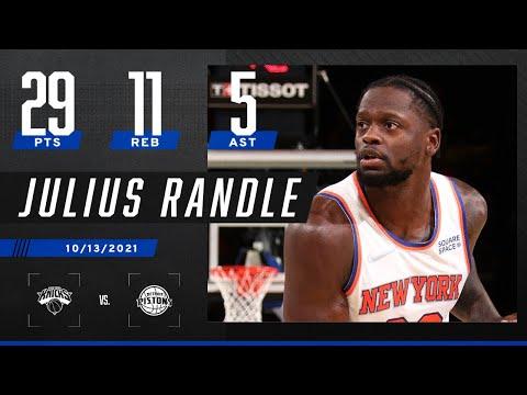 Julius Randle records 29-11-5 in Knicks' win vs. Pistons