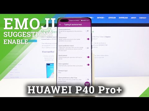 How to Turn Disable Emoji Suggestions on HUAWEI P40 PRO+ -   Turn On / Off Predictive Emoji