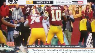 Ryan Clark tears Chris Cooley a new one LIVE ON ESPN's First Take!!