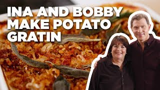Bobby Flay and Ina Garten Make Eleven-Layer Potato Gratin | Food Network