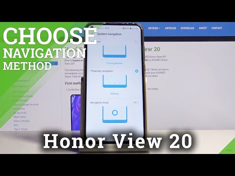 How to Change Navigation Bar on Honor View 20 – Choose Navigation Method