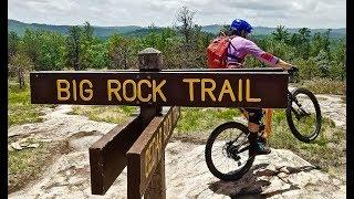 Not Moab slick rock... Asheville BIG ROCK!! Slab mtb riding in DuPont State Forest, Asheville
