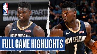 PELICANS at SPURS   Zion Scores 22 PTS on 11 SHOTS   NBA Preseason 2019