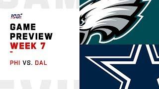 Philadelphia Eagles vs. Dallas Cowboys Week 7 NFL Game Preview