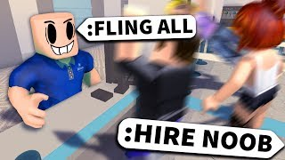 I used Roblox ADMIN to give NOOBS a JOB