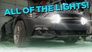 LED Grill installed into 2015 Mustang Drift Car! - Junkyard search for parts...😀