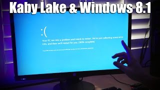 What happens when you install Windows 8 on a Kaby Lake system??