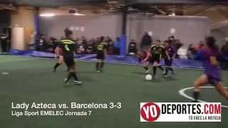 Lady Azteca y Barcelona empatan 3-3 en Chicago
