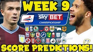 My Championship Week 9 Score Predictions! What Will Happen This Weekend?!