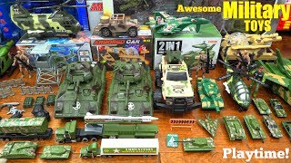 A Collection of Toy Soldiers and Military Vehicle Toys! Toy Tanks, Toy Planes and Toy Soldiers!