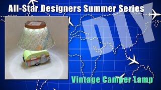 Vintage Camper Lamp