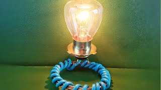 Amazing Free Energy Generator With Light Bulb Using Magnet New Technology Science Project At Home
