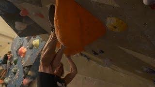 Peter Climbing On A Tricky 7B+/V8