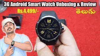 3G Android Smart Watch Unboxing & Review: CACGO K98H | in Telugu | Tech-Logic