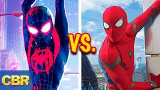 10 Differences Between Spider-Verse And MCU Spider-Man