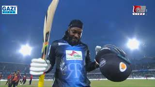 Chris Gayle leads the victory of Rangpur Riders against Khulna Titans