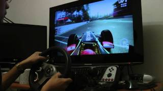 Codemaster Racing game PC version with G25 on Melbourne