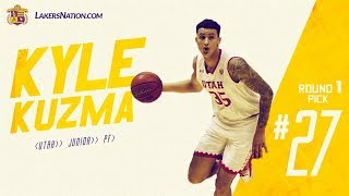 Lakers Select Kyle Kuzma at the 27th (via Nets) pick in the 2017 NBA Draft (Full Draft )