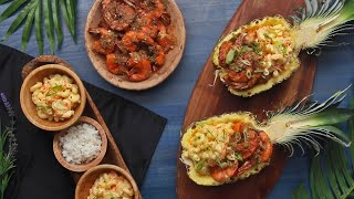 How To Make Garlic Shrimp And Hawaiian Macaroni Salad • Tasty