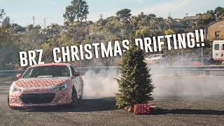 Street DRIFTING in the Christmas BRZ!